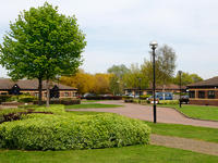 business park with freshly cut grass and hedges in Northumberland