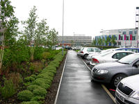 car park and garden outside of Kingsmill Hospital in Derbyshire