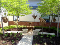 newly landscaped memorial garden at Royal Derby Hospital